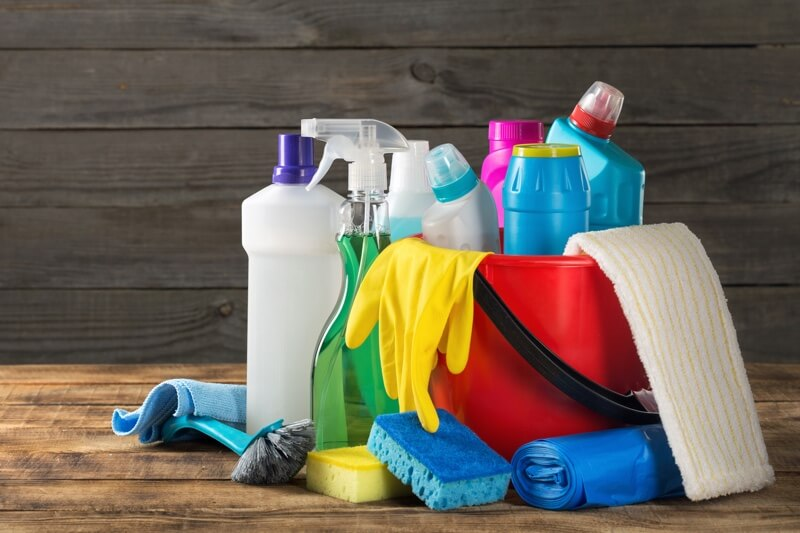 how to clean up dog poop _ various cleaning supplies